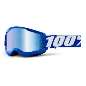 Motokrosové brýle 100% STRATA 2 modré (modré zrcadlové plexi)