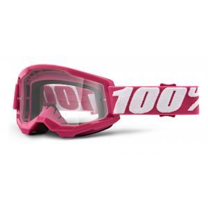 Motokrosové brýle 100% STRATA 2 růžové (čiré plexi)
