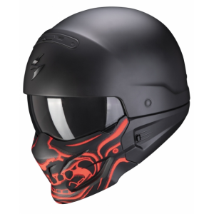 Přilba Scorpion EXO-COMBAT EVO Samurai černo-červená