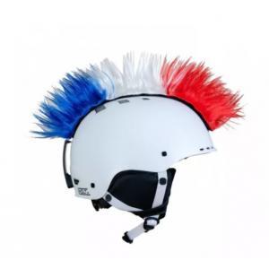 Číro na helmu Mohawk Czech/USA č.40 modro-bílo-červené