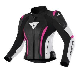 Dámská bunda na motorku Shima Miura 2.0 černo-bílo-růžová