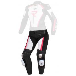 Dámské kalhoty Street Racer Kiara černo-bílo-fluo růžové - II. jakost