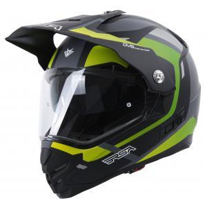 Enduro přilba RSA MX-01 EVO černo-šedo-fluo zelená