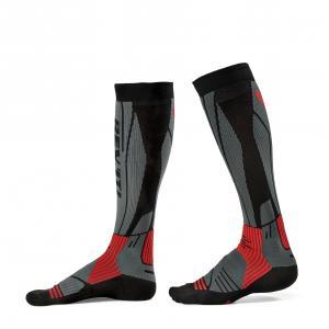 Ponožky na motorku Revit Andes šedo-červené