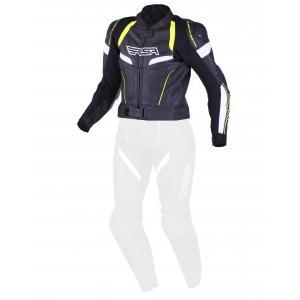 Dámská bunda RSA Speedway černo-bílo-fluo žlutá výprodej