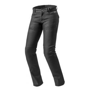 Dámské jeansy na motorku Revit Orlando H2O RF černé výprodej
