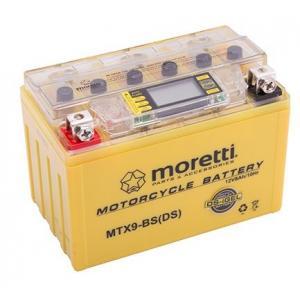 Bezúdržbová gelová baterie  Moretti  MTX9-BS, 12V 8Ah s měřičem napětí