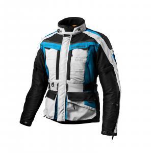 Bunda na motorku Shima Horizon modro-šedo-černá