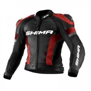 Bunda na motorku Shima STR černo-červená výprodej