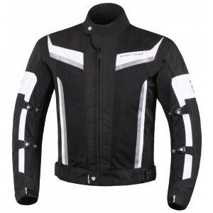 Bunda na motorku Street Racer Elite černo-bílá