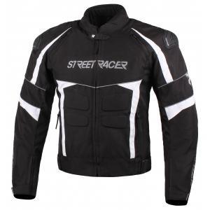 Bunda na motorku Street Racer Spark černo-bílá