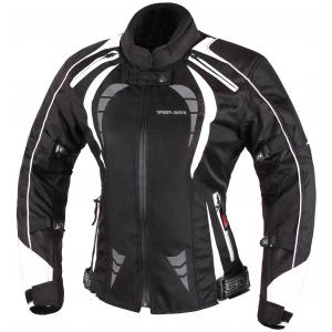 Dámská bunda na moto RSA Queen černo-bílá