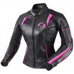 Dámská bunda Tschul 828 černo-růžová
