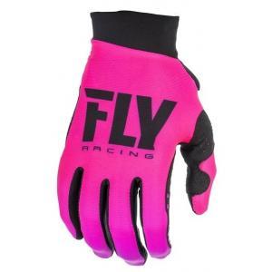 Dámské motokrosové rukavice FLY Racing PRO LITE 2019 - USA černo-růžové výprodej