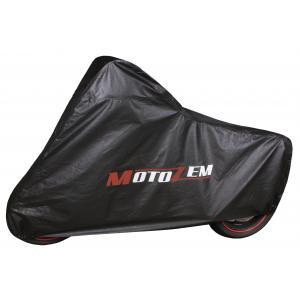 Garážová plachta na motorku Motozem - černá