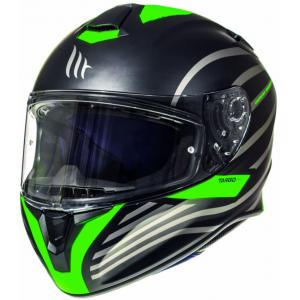 Integrální přilba na motorku MT Targo Doppler fluo zelená matná výprodej