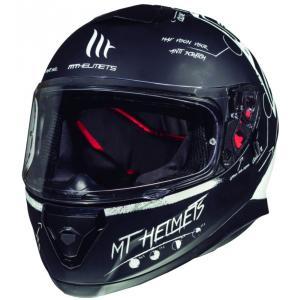 Integrální přilba na motorku MT Thunder 3 SV Board černá matná-bílá