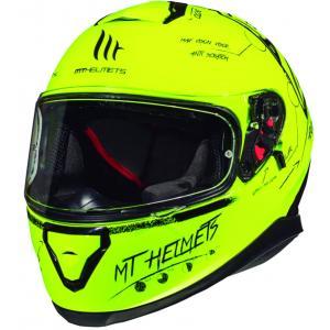 Integrální přilba na motorku MT Thunder 3 SV Board fluo žlutá