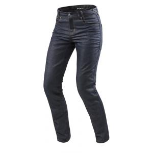 Jeansy na motorku Revit Lombard 2 RF tmavě modré zkrácené výprodej