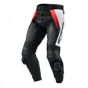 Kalhoty na motorku Shima STR černo-bílo-fluo červené výprodej
