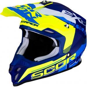 Motokrosová přilba Scorpion VX-16 Air Arhus modro-fluo žlutá