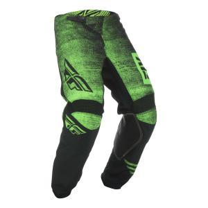 Motokrosové kalhoty FLY Racing Kinetic NOIZ 2019 - USA černo-fluo zelené