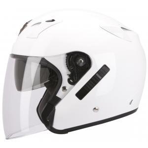 Otevřená přilba na motorku Scorpion EXO-220 bílá výprodej