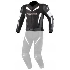 Pánská bunda na motorku RSA GPX černo-bílá