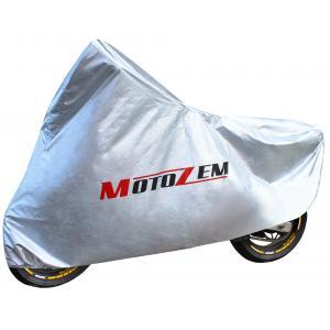 Plachta na motorku Motozem - stříbrná