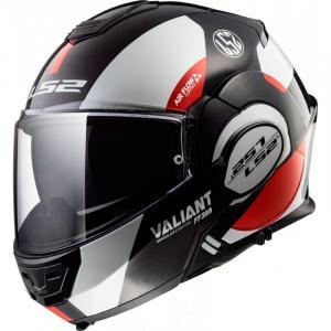 Překlápěcí přilba LS2 FF399 Valiant Avant bílo-černo-červená výprodej