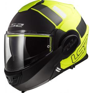 Překlápěcí přilba na motorku LS2 FF399 Valiant Prox černo-fluo žlutá výprodej