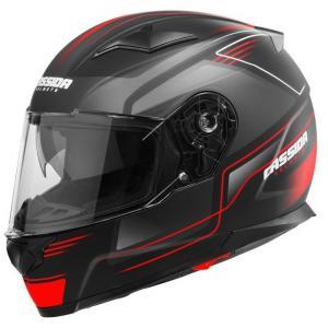 Přilba na motorku Cassida Apex Fusion černo-fluo červená