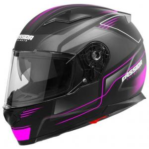 Přilba na motorku Cassida Apex Fusion černo-růžovo-bílá