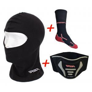 SET: RSA moto kukla + funkční ponožky + ledvinový pás