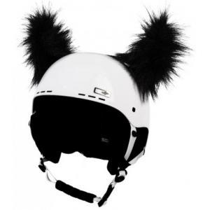 Uši na helmu Rohy černé chlupaté