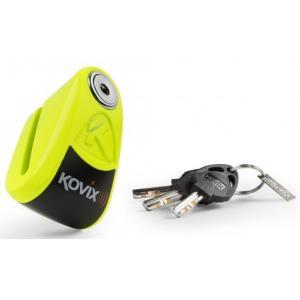 Zámek na kotoučovou brzdu s alarmem KOVIX KAZ10 fluo žlutý