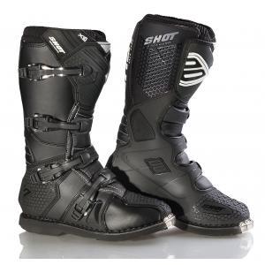 Boty na motorku Shot X10 černé