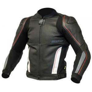 Bunda na motorku Ozone Volt černo-bílá výprodej