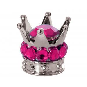 Čepičky na ventilky Oxford Crown stříbrno-růžové