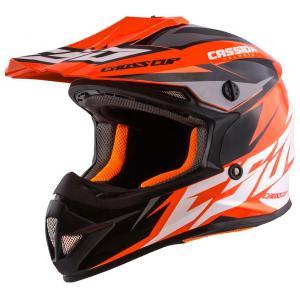 Dětská motokrosová přilba Cassida Cross Cup Two černo-bílo-fluo oranžová