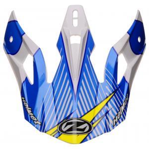 Kšilt pro přilby ZED X1.9 a X1.9D bílo-modro-žluto-černý