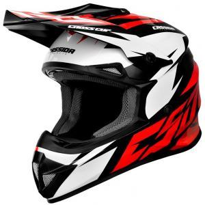 Motokrosová přilba Cassida Cross Cup Two černo-bílo-červená