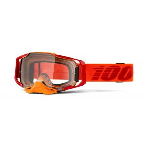 Motokrosové brýle 100% ARMEGA Litkit oranžové (čiré plexi)