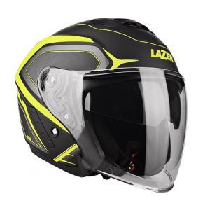 Otevřená přilba na motorku Lazer Tango Hexa černo-fluo žlutá výprodej