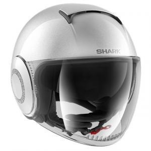 Otevřená přilba SHARK NANO CRYSTAL by Swarovski stříbrná výprodej
