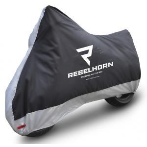 Plachta na motorku Rebelhorn Cover II černo-stříbrná