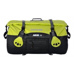 Vodotěsný vak Oxford Aqua70 Roll Bag černo-fluo žlutý