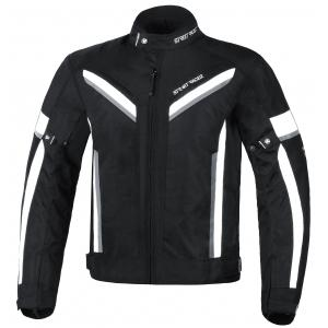 Zkrácená bunda na motorku Street Racer Viper černo-bílá
