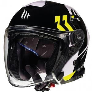 Otevřená přilba na motorku MT Thunder 3 SV Venus černo-bílo-fluo žlutá