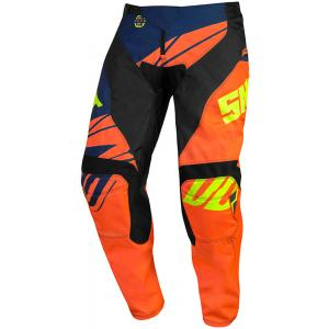 Dětské motokrosové kalhoty Shot Devo Ventury oranžovo-modro-fluo žluté